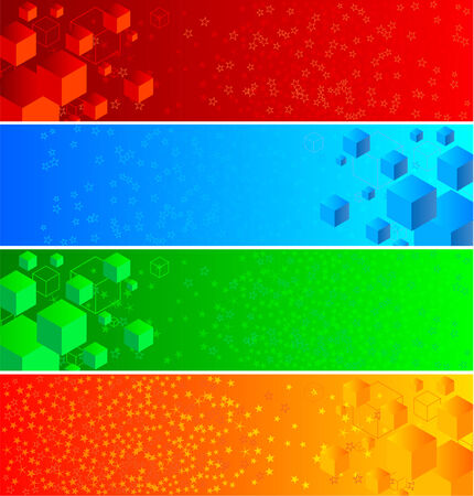 depliant: Vector abstract banners; clip-art