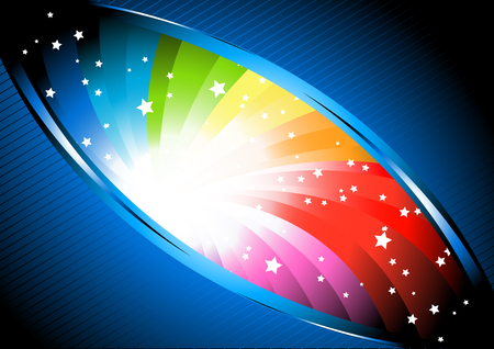 copyspace: Vector colorful background; clip-art