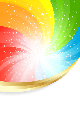 Vector coloful background; clip-art Vector