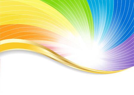 abstract rainbow: bright background, clip-art Illustration