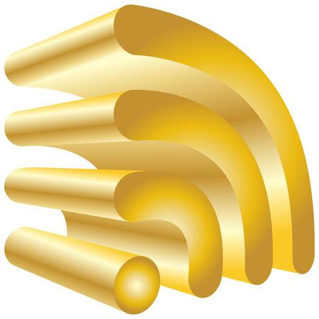icon rss, clip-art Stock Vector - 6203894