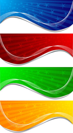 girds: set of banners, clip-art Illustration