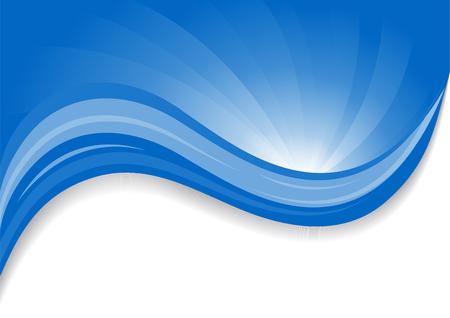 wave hello: blue background, clip-art Illustration
