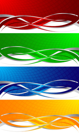 girds: colorful banners, clip-art
