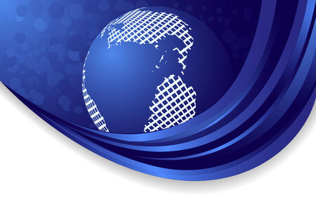abstract background with globe, clip-art Vector