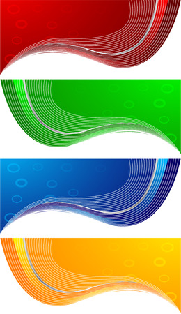 girds: abstract banners, clip-art Illustration