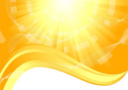 sunny background, clip-art Stock Vector - 6343856