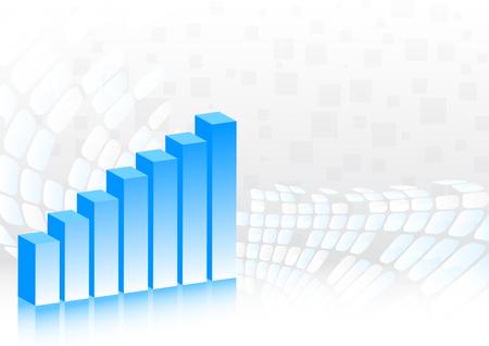 Vector background with diagram; clip-art Stock Vector - 6432362