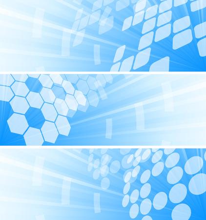 Vector set of three tech banners; clip-art Stock Vector - 6432421