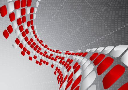 Vector abstract tech background; clip-art Vector