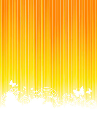 line artwork: Vector sunny background; clip-art