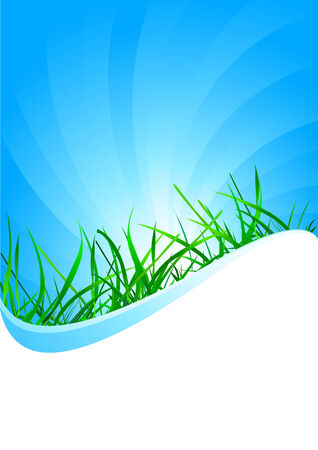 background with grass, clip-art Vector