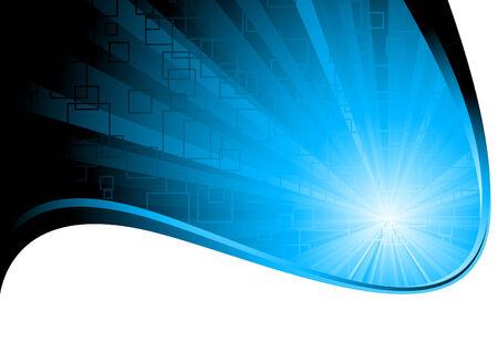 company background: sfondo blu, clip art