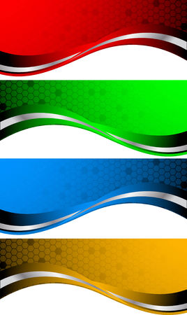 business flyer: set of abstract banners, clip-art