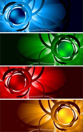 bright banners, clip-art Stock Photo - 6584554