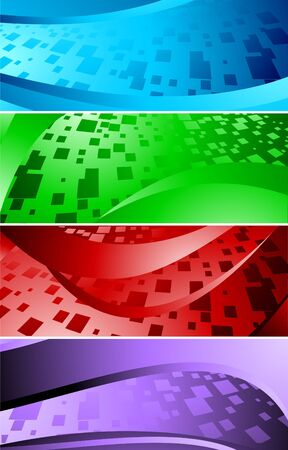 set of banners with square, clip-art Stock Photo - 6584573