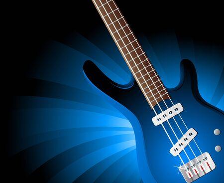modern rock: Vector background with guitar; clip-art