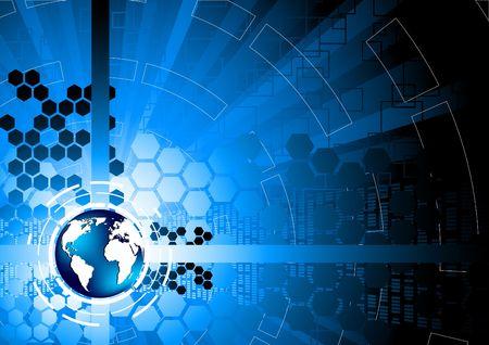 communications technology: Antecedentes de la tecnolog�a de vector, clip-art Vectores