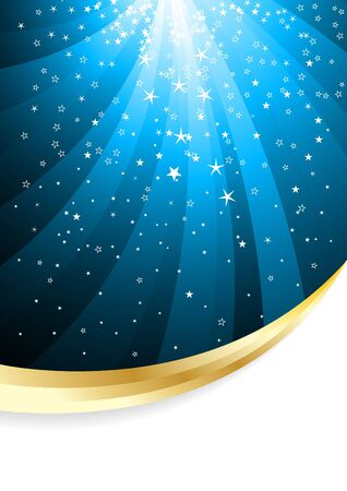 Vector abstract background with star; clip-art Vector