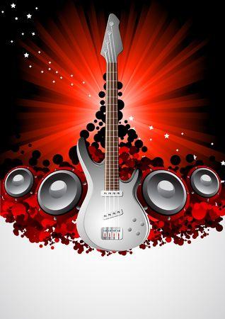 acustica: Vettore di musica background; clip art