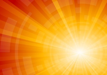 warm colors: Vector bright sunny background; clip-art