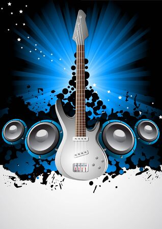 Vector music background; clip-art photo