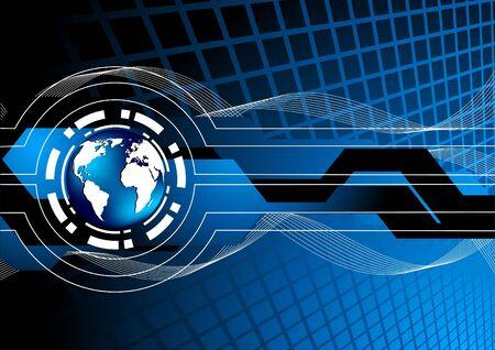 Vector blue background; clip-art Vector