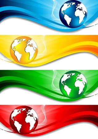 Vector set of banners; clip-art Vector