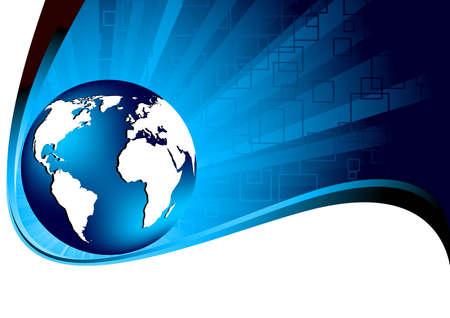 blue tech background, clip-art photo