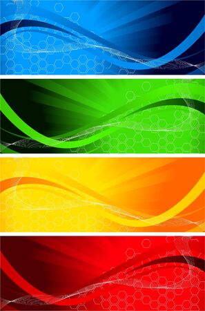 set of bright banners, clip-art photo