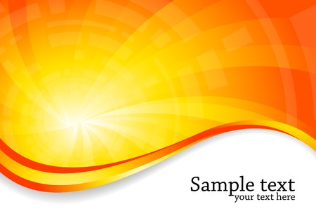 heat: bright background in orange color, clip-art