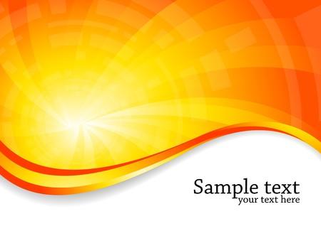bright background in orange color, clip-art