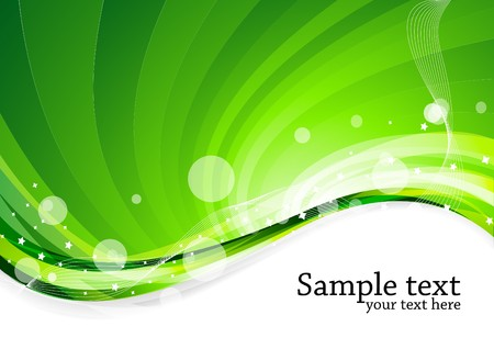 green background, clip-art Stock Photo - 7263600