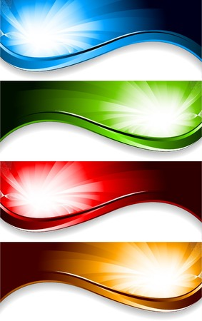 bright banners Vector