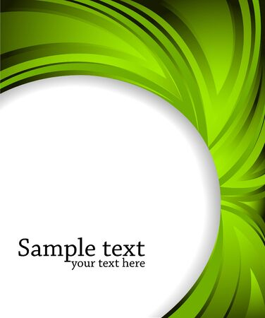 poster design:    abstract green background, clip-art