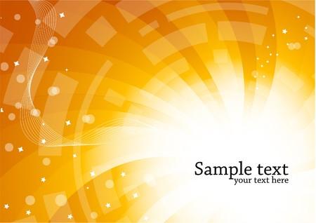 effect sunset:  bright tech background, clip-art Stock Photo