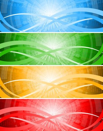 set tech banners, clip-art Stock Photo - 7639637
