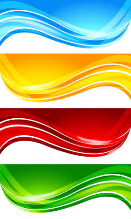 Set of abstract bright banner; clip-art Vector