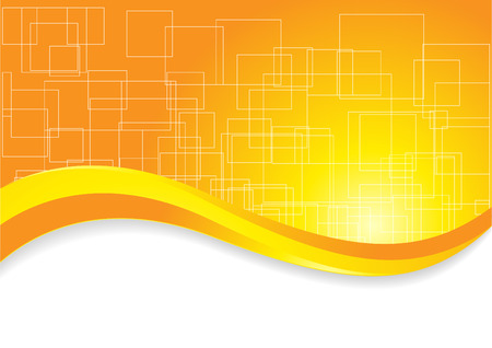 curve line: Abstract background with square; clip-art Illustration