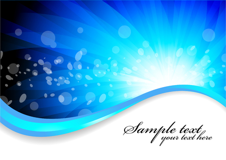 blue background with circle, clip-art Vector