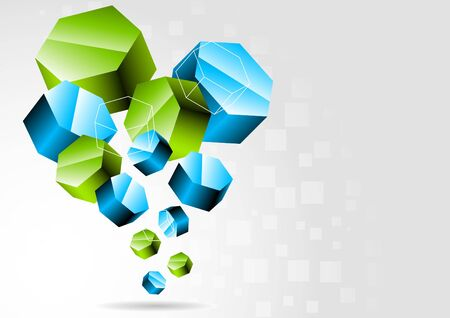 hexagon background: 3d background Stock Photo