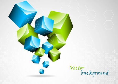 Abstract background with 3d element Stock Photo - 7852318