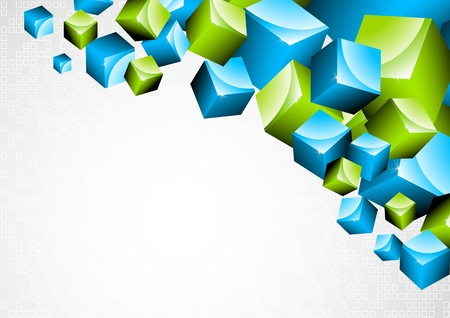 Background with 3d box Stock Photo - 7852320