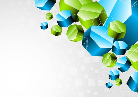 Background with 3d hexagon Stock Photo - 7852317