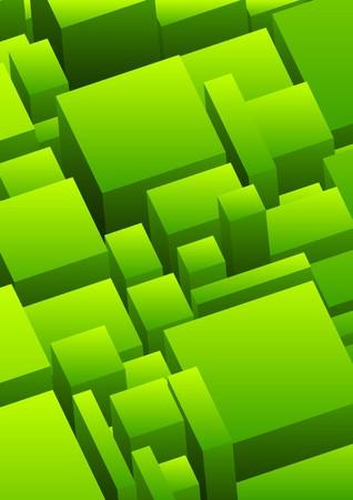 dominare: Astratto sfondo urbano in colore verde Archivio Fotografico