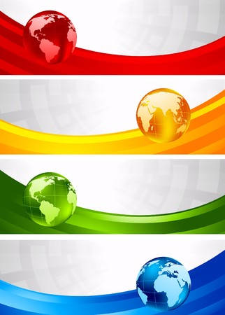 Collection of four banners Stock Photo - 8254034