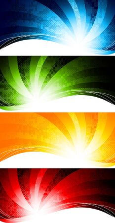 set of abstract tech background, clip-art Stock Photo - 8254045