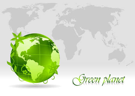 Green concept. illustration Stock Illustration - 8838548