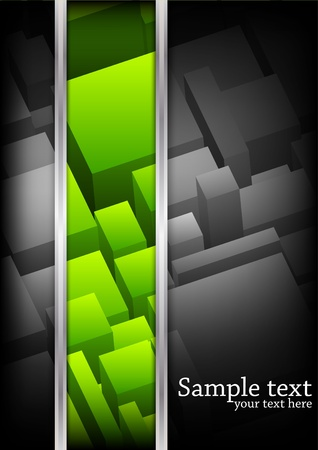background with cubes. Green color photo