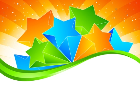 Brightly background with star Stock Photo - 8838577
